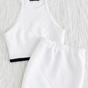 White Top & Skirt set